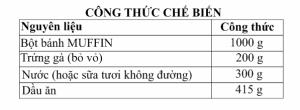 cong thuc banh muffin