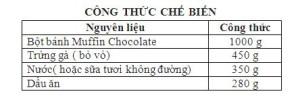 cong thuc che bien muffin chocolate