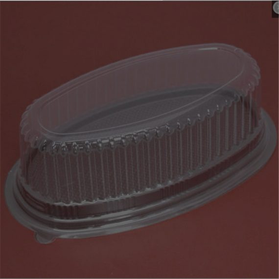 Hộp Nhựa Oval Đế Đen F70