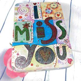 Hộp Thiếc Chữ Nhật I Miss You