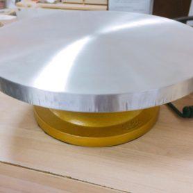 bàn xoay gang chân vàng 32cm 8179