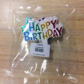 Chữ Happy Birthday Sắc Màu 10 Cái