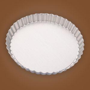 khuôn tart tròn nhôm đế rời 24cm 8671