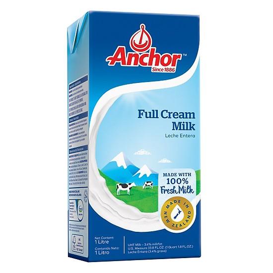 Sữa Tươi Nguyên Chất Không Đường Anchor 1Lít