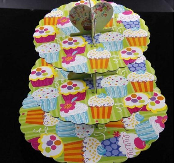 Kệ Giấy Cupcake 3 Tầng Nhiều Màu