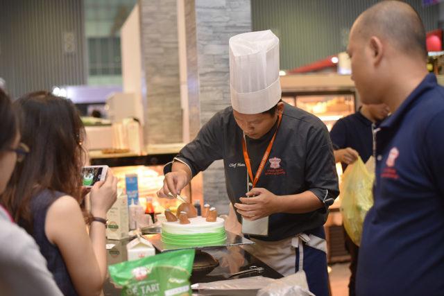 hội chợ làm bánh kem