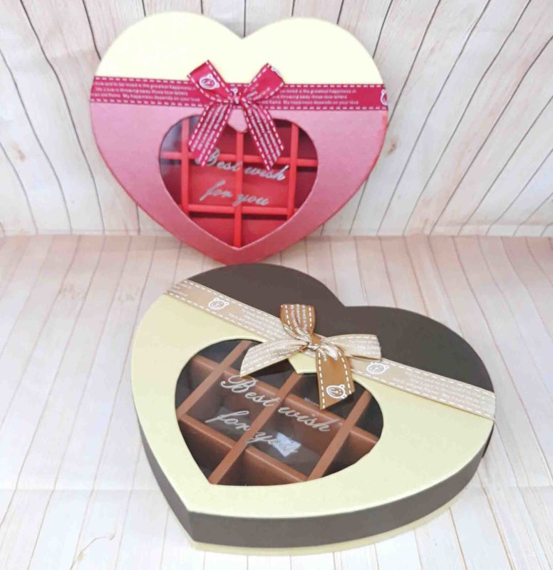 Hộp Chocolate Trái Tim 14 Ô Best Wish For You