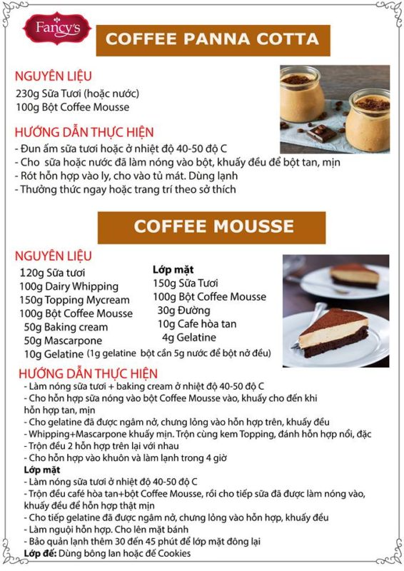 bột Coffee Mousse 1kg