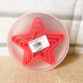 bộ khuôn nhấn nhựa ngôi sao 5c màu hồng