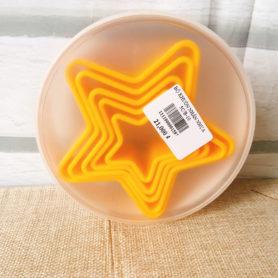 bộ khuôn nhấn nhựa ngôi sao 5c màu vàng