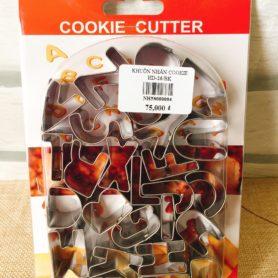 Khuôn Nhấn Cookie 26 Chữ Cái HD-26