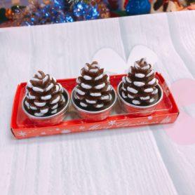 Set 3 Nến Cây Thông Noel Nâu
