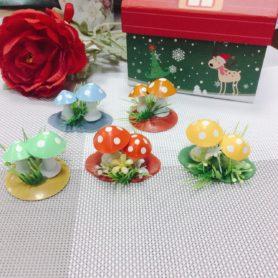 Set 5 Bụi Nấm Trang Trí Noel