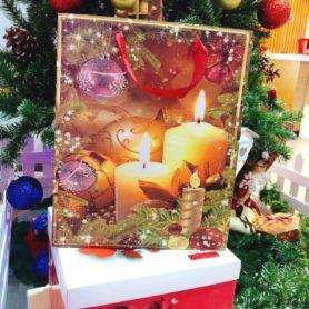 Túi Giấy Noel Hình Cây Nến