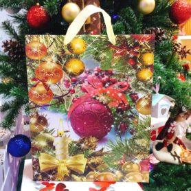Túi Giấy Noel Hình Quả Châu Nhỏ