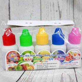 set 5 màu nước thực phẩm