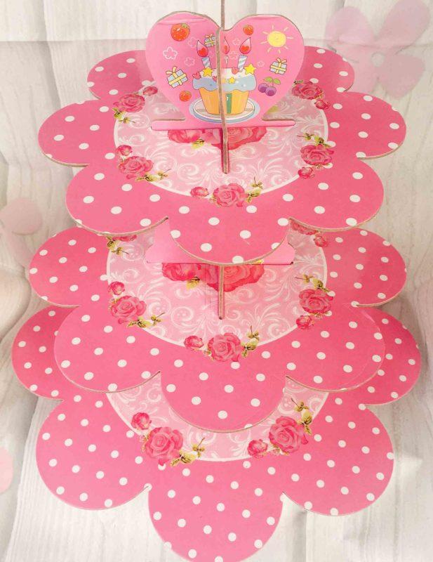 Kệ Giấy Cupcake 3 Tầng