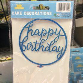 Cây Cắm Happy Birthday Viền Tròn