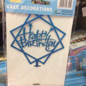 Cây Cắm Happy Birthday Viền Vuông