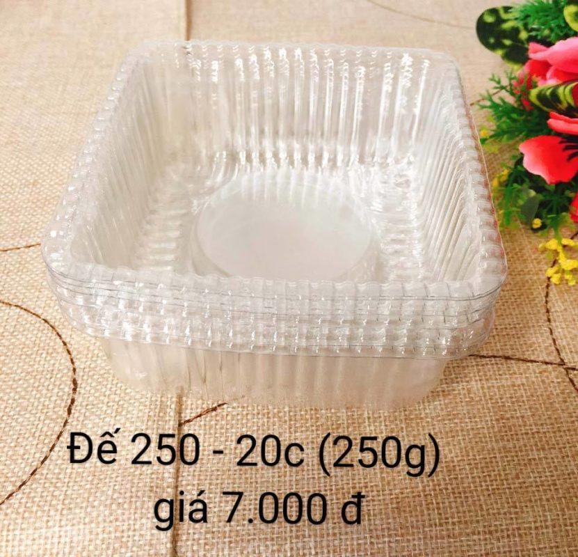 Khay Nhựa Đựng Bánh Trung Thu 250gr- 20 Cái