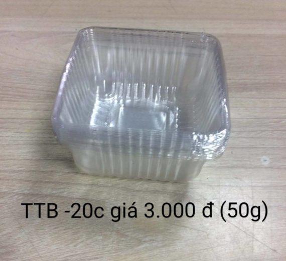 Khay Nhựa Đựng Bánh Trung Thu TTB 50gr- 20 Cái
