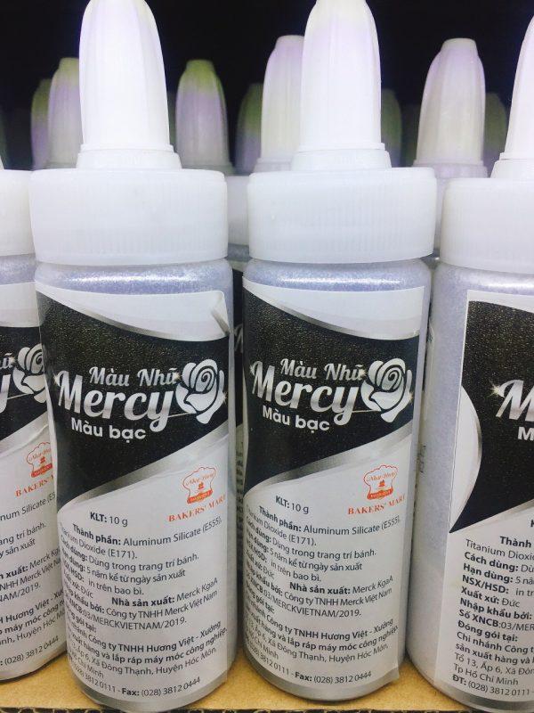 Màu Nhũ Mercy Màu Bạc 10Gr- Giao 1 Chai