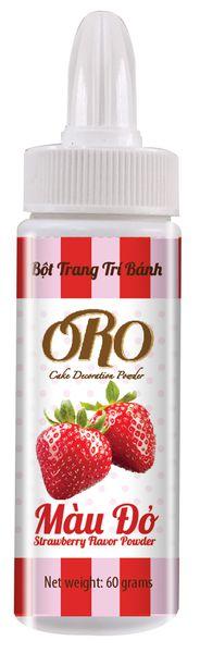 Màu Bột Xịt ORO Màu Đỏ Dâu Strawberry 60gr