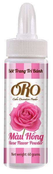 Màu Bột Xịt ORO Màu Hồng Rose 60gr
