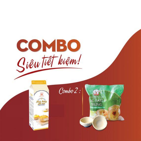 Combo Đế Bánh Tart Trứng và Kem Phô Mai Nhất Hương