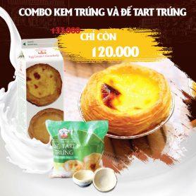 Combo Đế Bánh Tart Trứng và Kem Trứng Nhất Hương