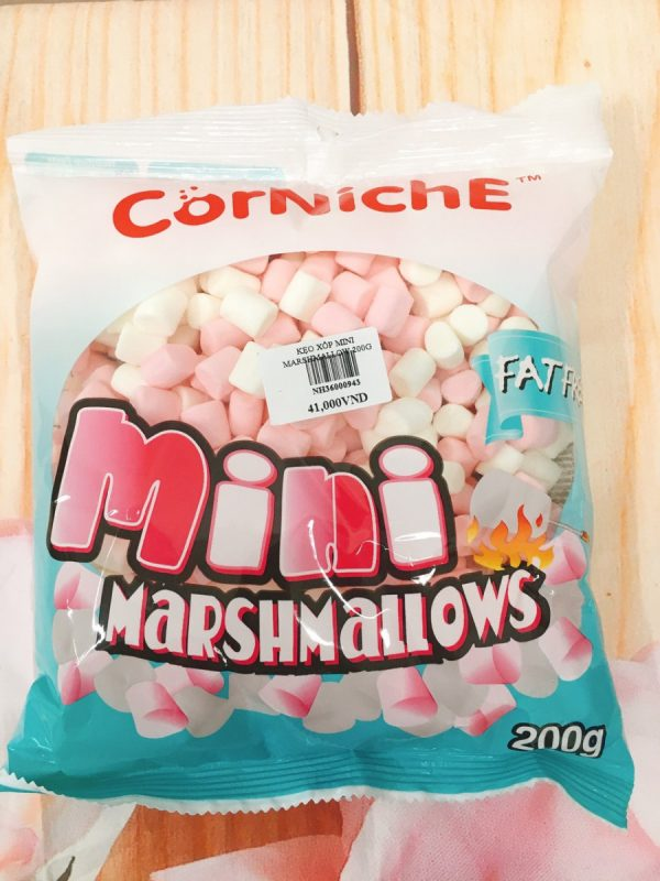 Kẹo Xốp Marshmallow Mini Trắng Hồng 200gr