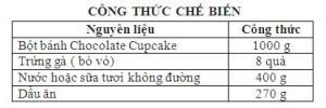 Bột Trộn Sẵn Bánh Cupcake Chocolate 1Kg