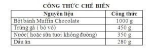 Bột Trộn Sẵn Bánh Muffin Chocolate 1Kg