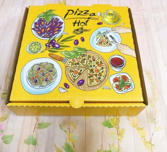 Hop Giay Pizza Mau Vang