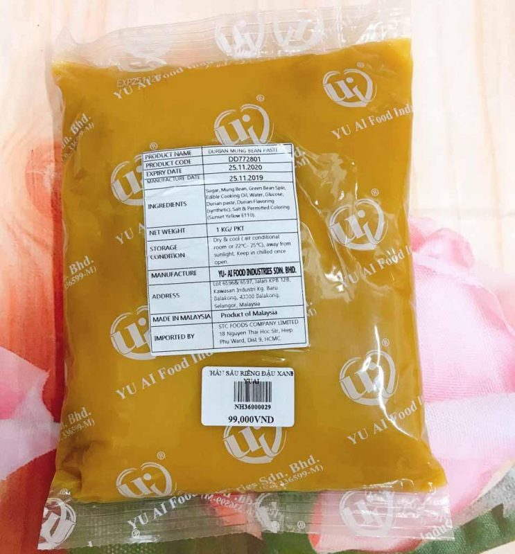 Nhan Sau Rieng Dau Xanh Yuai 1kg