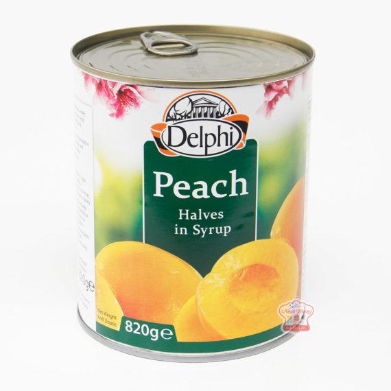 đào đóng hộp delphi peach halves in syrup