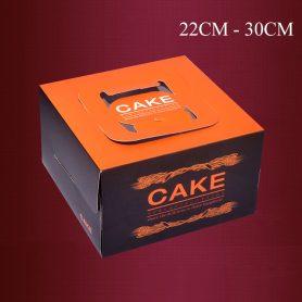 hộp đựng bánh gato kèm đế 22cm-30cm