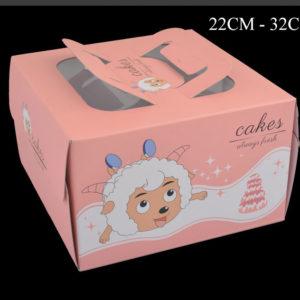 hộp đựng bánh kem kèm đế 22cm-30cm