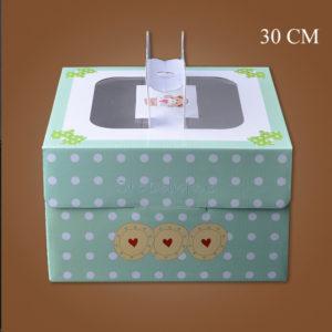 hộp đựng bánh sinh nhật kèm đế 30cm