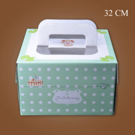 hộp đựng bánh sinh nhật kèm đế 32cm