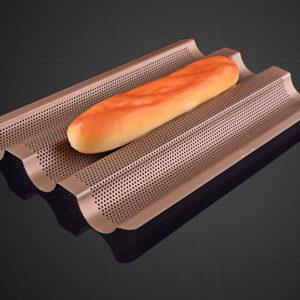 khay nướng bánh mì baguette 3 cái 02
