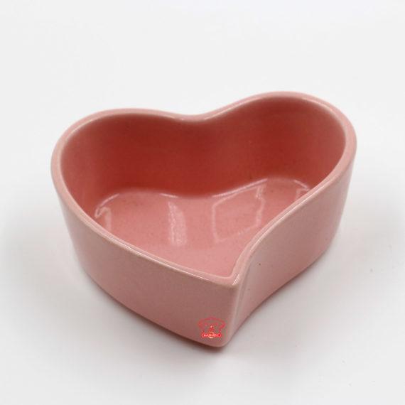 khuôn pudding tim màu hồng