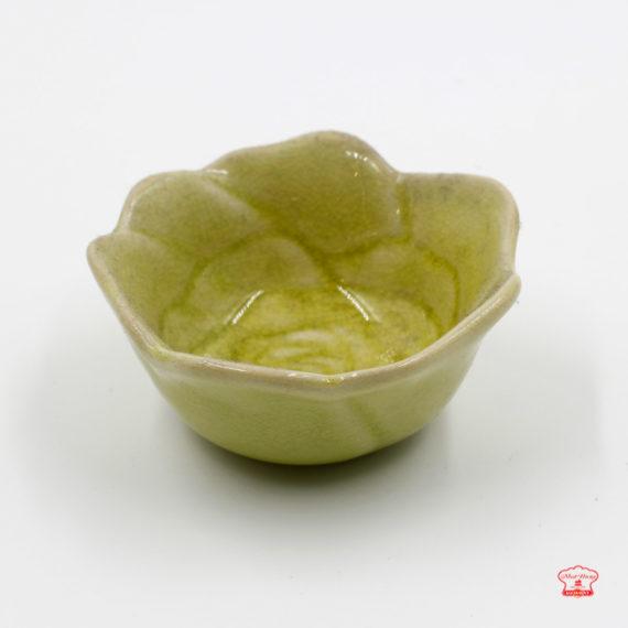 khuôn sứ pudding hoa hồng màu xanh 01