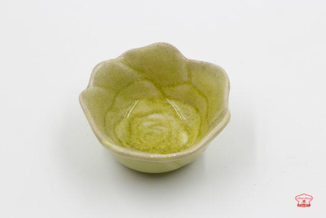 khuôn sứ pudding hoa hồng màu xanh
