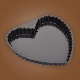 khuôn tart tim không đế rời 6 inch
