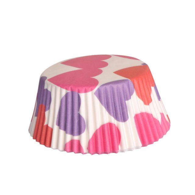 lót giấy cupcake chống dính họa tiết trái tim 01