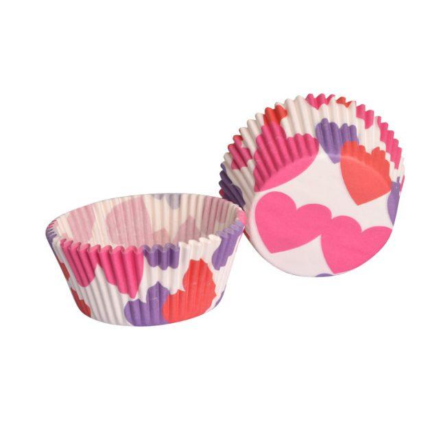 lót giấy cupcake chống dính họa tiết trái tim 02