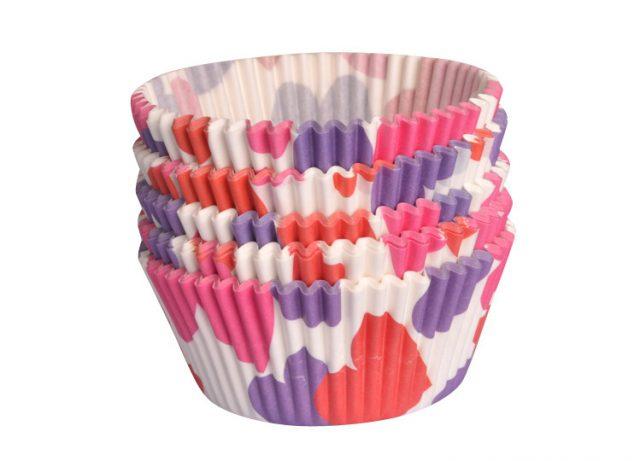 lót giấy cupcake chống dính họa tiết trái tim