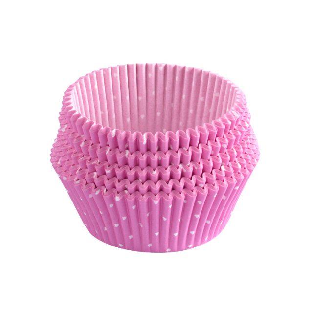 ly giấy cupcake chống dính màu hồng 02