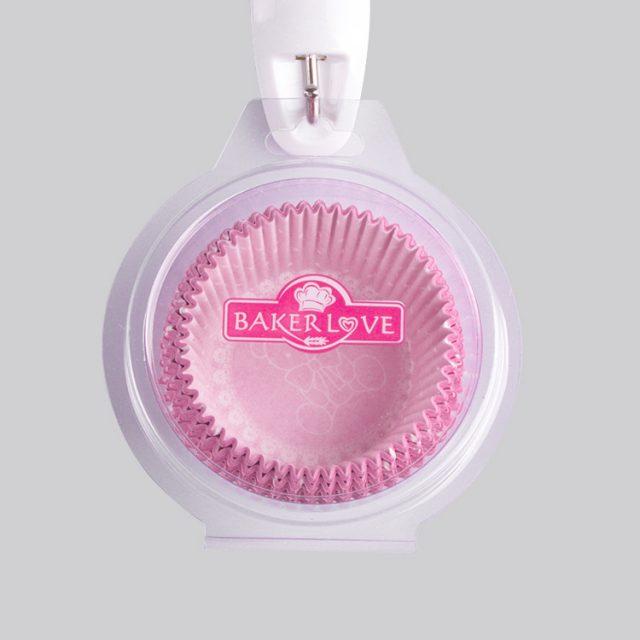 ly giấy cupcake chống dính màu hồng
